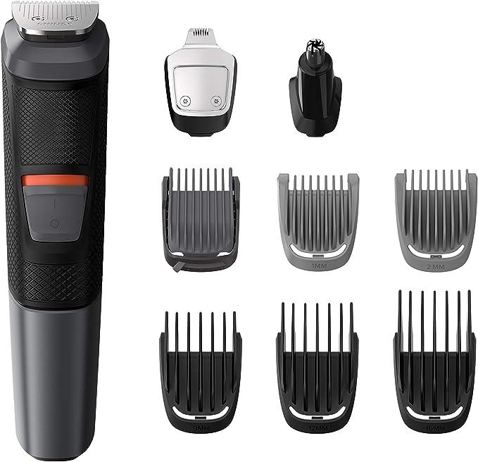 Philips Barbero MG5720/15 - Recortador de barba y precisión 9 en 1 tecnología Dualcut, para un recorte profesional, autonomía de 80 minutos, batería, negro: Philips: Amazon.es: Salud y cuidado personal