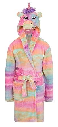 Filles Polaire Licorne Arc En Ciel Multicolore Robe De Chambre De