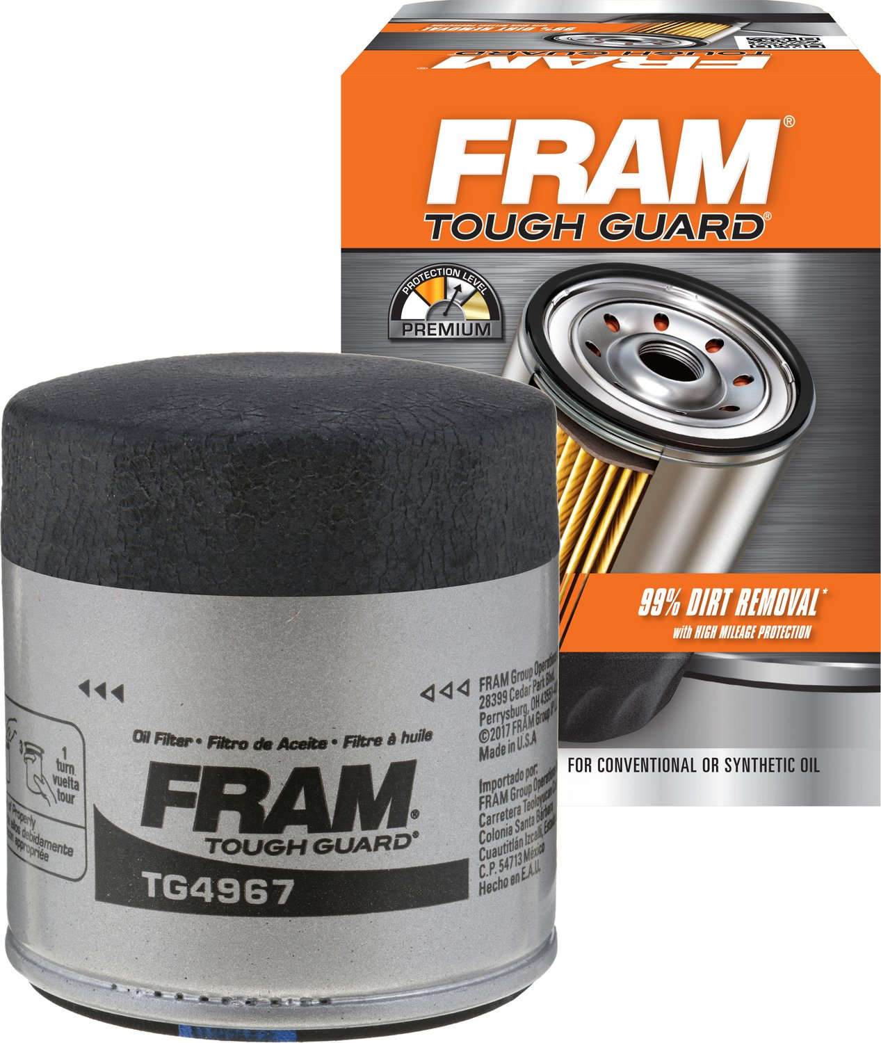 FRAM TG4967 Tough Guard Passenger Car Spin-On Oil Filter
