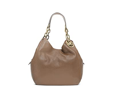 d5216531cf5b Amazon.com  MICHAEL Michael Kors Large Fulton Shoulder Tote Bag Dark Dune   Shoes