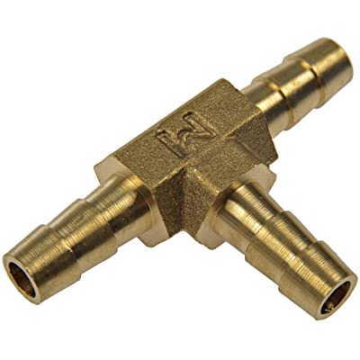 Dorman HELP! 55106 3-Way Tee Brass Fuel Hose Fitting: Automotive