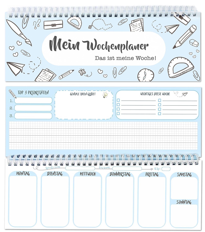 To Do Liste Ideen tischkalender wochenplaner im quer format 52 wochen 1 woche 2
