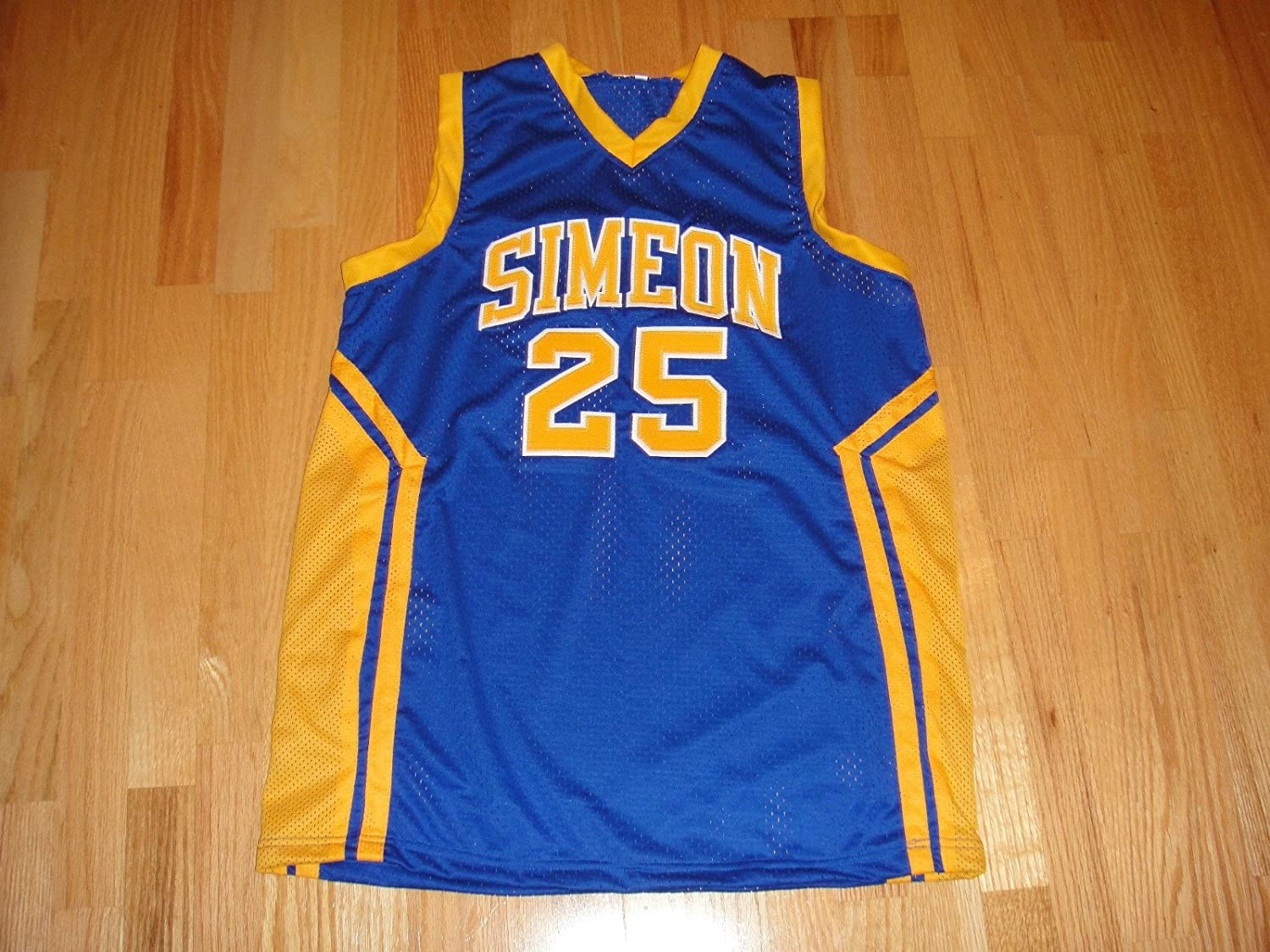 watch d860e 865ff DERRICK ROSE #25 PSA/DNA SIGNED SIMEON HIGH SCHOOL JERSEY ...