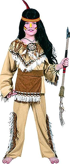 mágica Clown – Indios Disfraz con flecos y plumas para joven, 104 ...