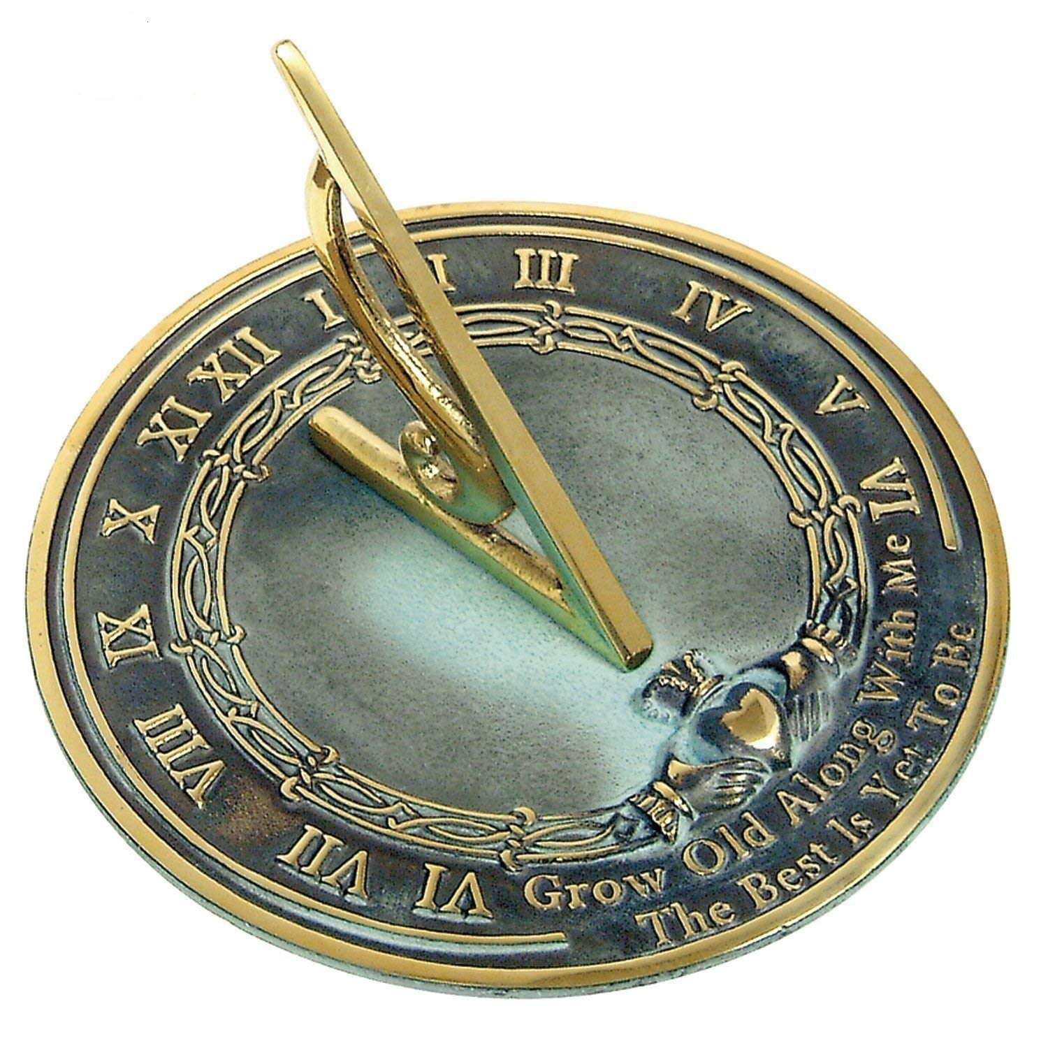 ANTIQUECOLLECTION Brass Sundial Grow Old Me
