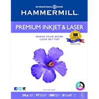 Hammermill Paper, Premium Ink & Laser Poly Wrap, 24lb, 8.5x11, Letter, 97 Bright 500 Sheets / 1 Ream (166140R), Made In The USA
