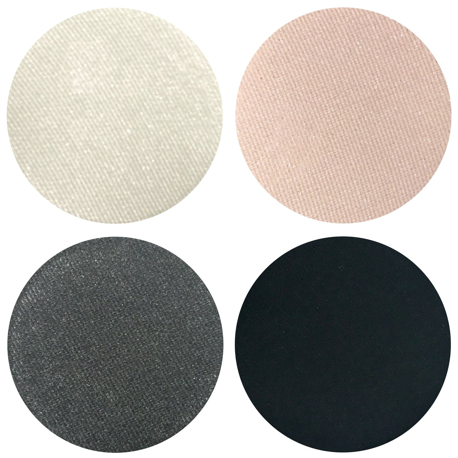 Smokey Night Collection Eyeshadow Quad: 4 Single Eye Shadows Makeup Magnetic Refill Pan 26mm, Paraben Free, Gluten Free, Made in the USA