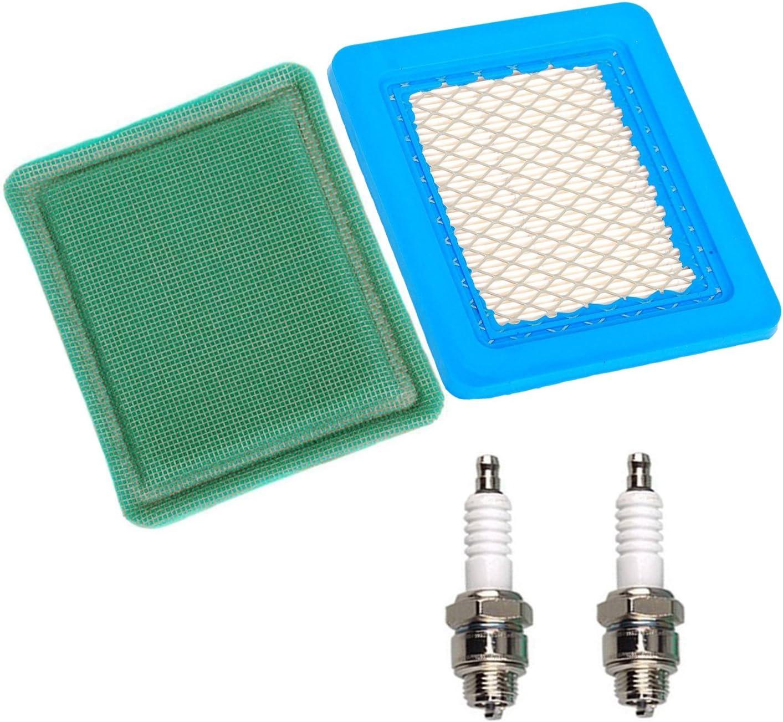OxoxO Air Filter Pre Filter Spark Plug for Briggs /& Stratton 491588 491588S 399959 ?625e 675ex 725ex 625-675 Series and Quantum 3.5-6.75 Gross HP Push Mower