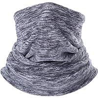 AYPOW Fleece Neck Warmer, Winter Warm Versatile Neck Warmer Extra Long Thick Neck Tube Windproof Balaclava Hood(Grey Color) - Elastic Universal Size