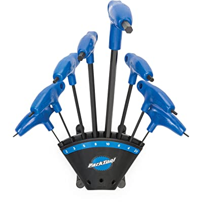 Park Tool PH-1.2 P-Handled Hex 8pc Wrench Set + Holder Black/Blue, One Size