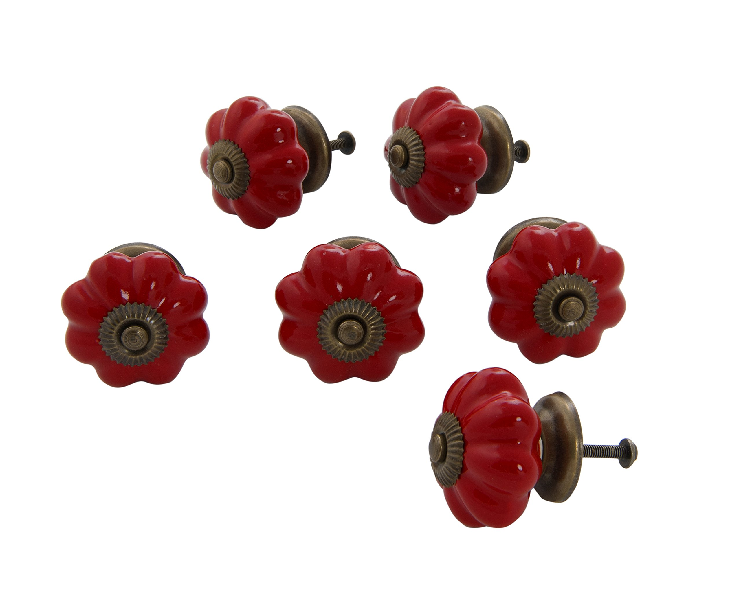 Dritz Home 47056A Ceramic Scallop Knob Handcrafted Knobs for Cabinets & Drawers