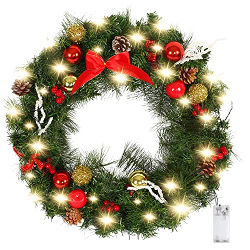 Light Up Christmas Wreath Amazon Com