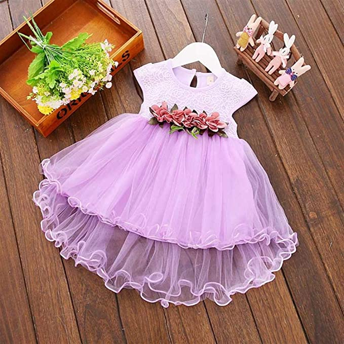Amazon.com: Chitop Flower Newborn Baby Dress Summer Cute Baby Girls ...