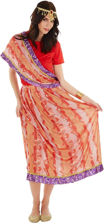 TecTake dressforfun Disfraz para Mujer India Sari Bollywood ...