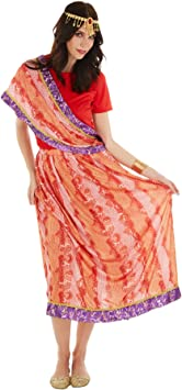TecTake dressforfun Disfraz para Mujer India Sari Bollywood | Traje ...