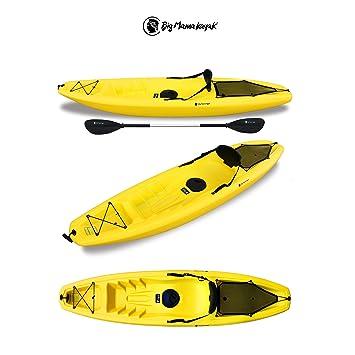 Gil Big Mama Kayak – Canoa de 266 cm + 1 GAVONE + 1 Pagaia + 1 asiento + 1 rueda (Color Amarillo): Amazon.es: Deportes y aire libre