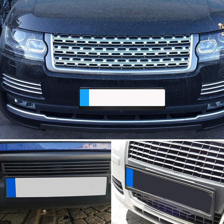 Effetto Targa Cornice Cornice Porta Targa per Tutte le Auto ABS PC plastica nero LncBoc 2 x Supporto per targa auto