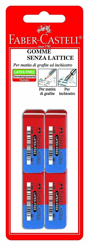 Faber-Castell 180668 4 Gomme in Caucciù
