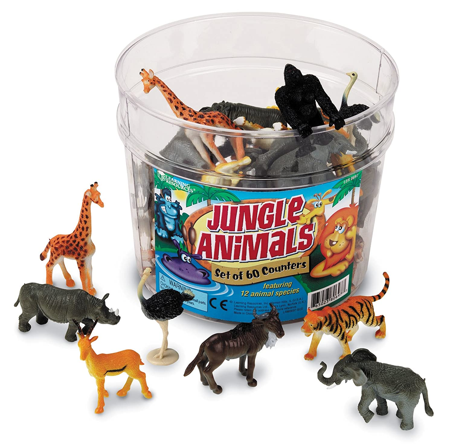 Learning Resources Jungle Animal Counters, Set of 60 LER0697