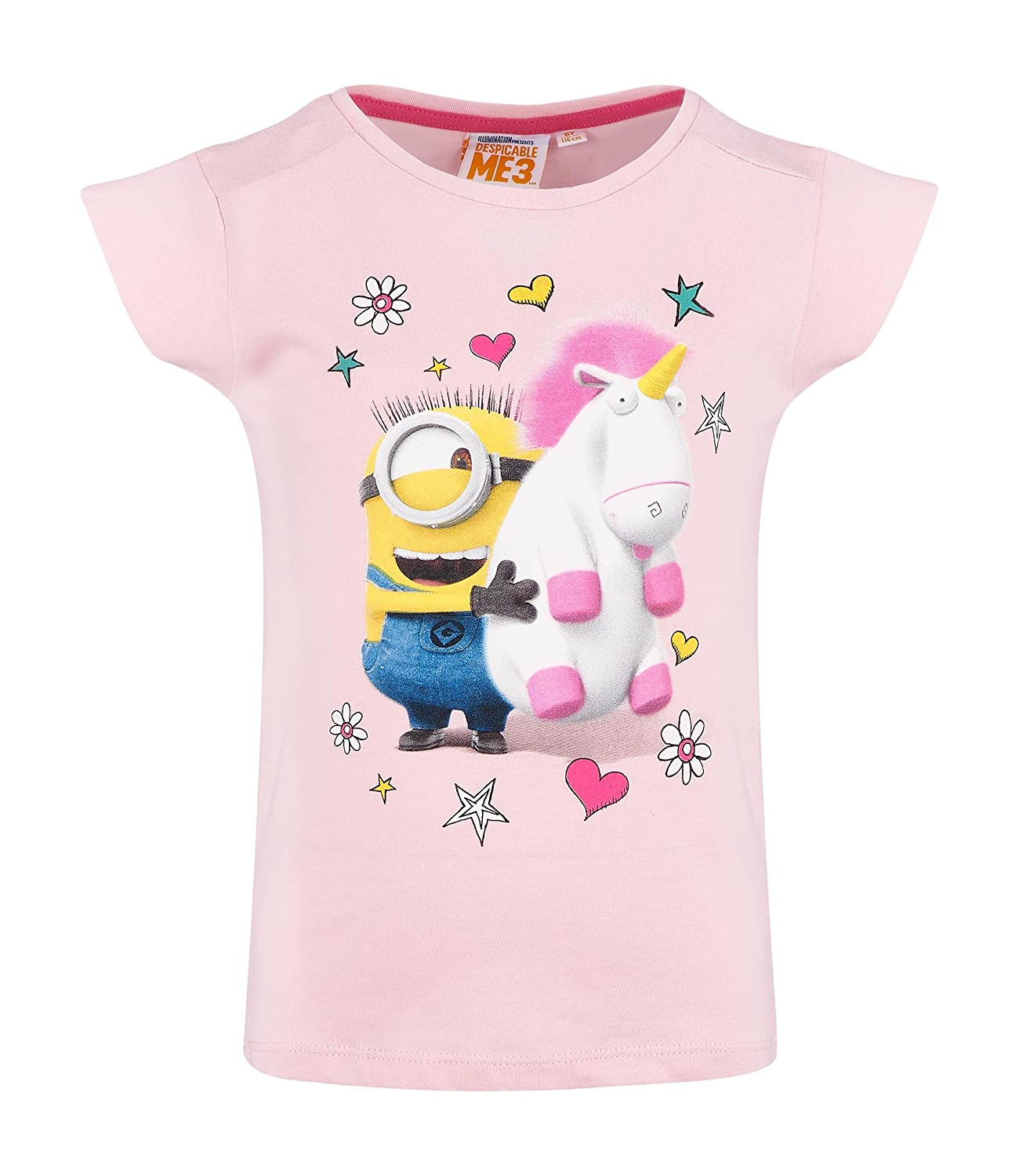 MINIONS Despicable Me Fille Tee-Shirt - Rose