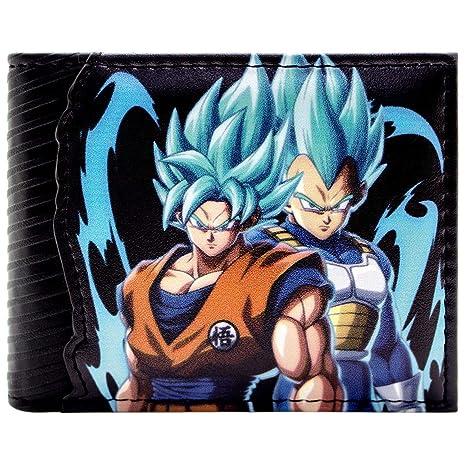 Cartera de Dragon Ball Z Goku & Vegata Saiyan Dios Negro ...