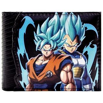 Cartera de Dragon Ball Z Goku & Vegata Saiyan Dios Negro