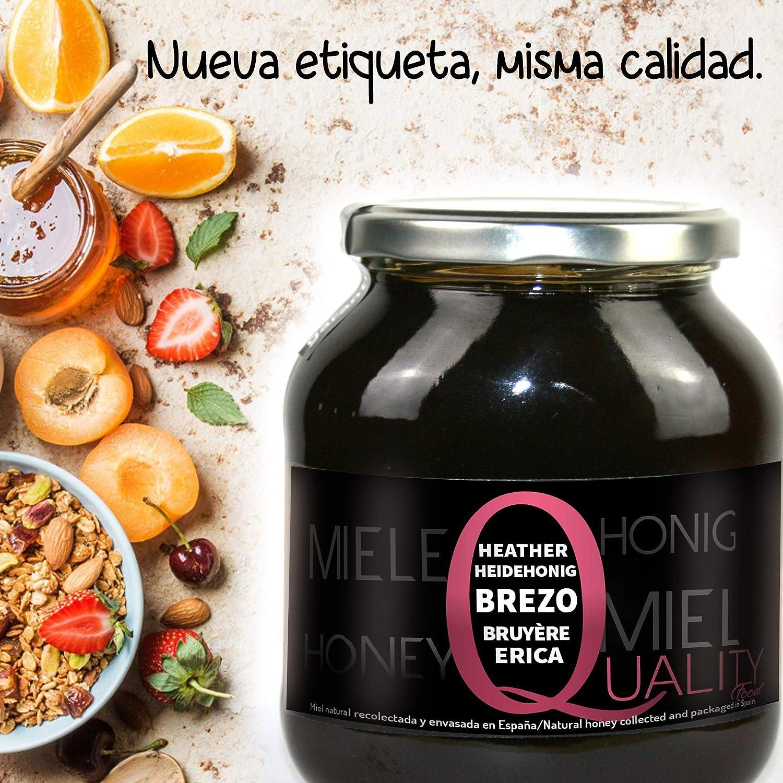 Miel pura de abeja 100%. Miel cruda de Brezo. 1 Kg. Producida en España. Sin pasteurizar ni calentar. Artesana de alta calidad. Tarro de cristal. Gran variedad de exquisitos sabores.: Amazon.es: Alimentación
