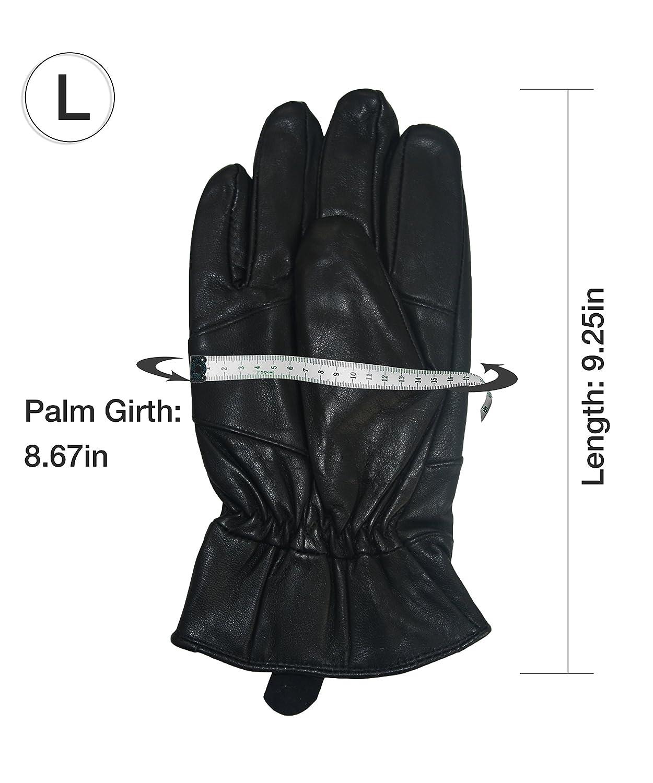 XL INES Lambskin Driving Gloves Motorcycle Cycling Men Winter Warm Duty Work Glove