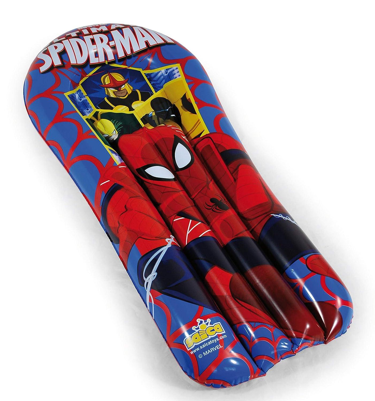 Ultimate Spiderman- Colchoneta Hinchable, Color Azul y Rojo (Saica ...