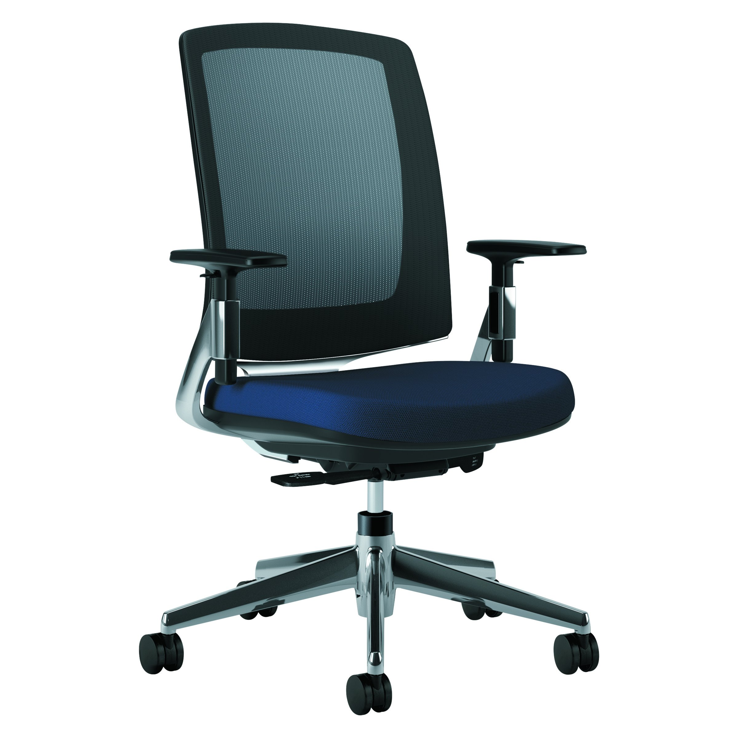 HON Lota Mid-Back Office Chair - Mesh Back Computer Chair for Office or Computer Desk, Navy/Black (H2283)