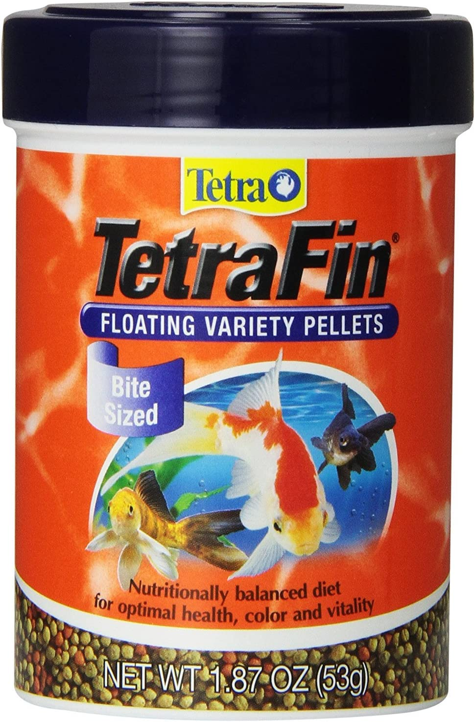 Tetra 77035 Tetrafin Floating Variety Pellets, 1.87 Oz (4 Pack)