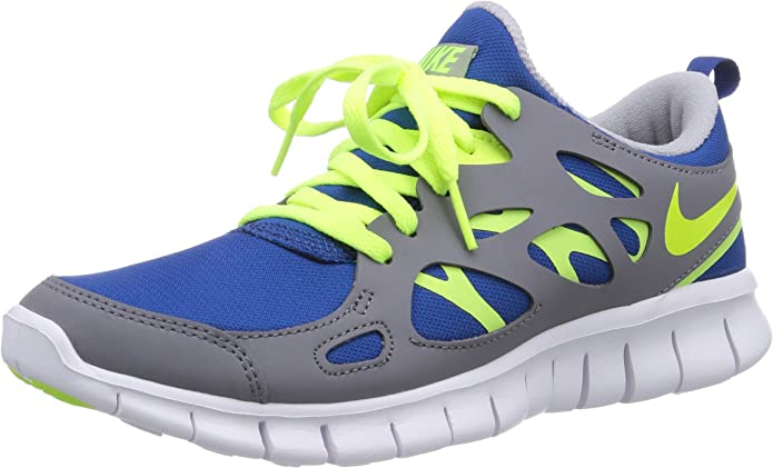 Nike Free Run 2 (GS), Zapatillas de Running Infantil, Azul-Blau (Gym Blue/Volt-Cool Grey-White), 38 EU: Amazon.es: Zapatos y complementos