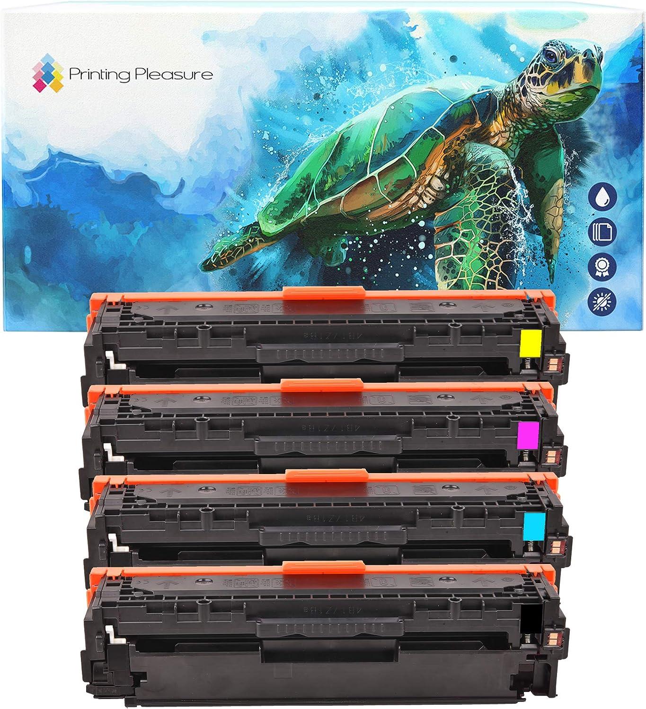 Printing Pleasure Full Set of Compatible Laser Toner Cartridges for HP Laserjet Pro 200 Color M251 n/nw MFP M276 n/nw Canon LBP7110CW MF8230CN MF8280CW | CF210X CF211A CF213A CF212A 131X 131A 731