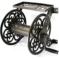 Liberty Garden Products 708 Steel Decorative Wall Mount Garden Hose Reel, Holds 125-Feet of 5/8-Inch Hose - Bronze