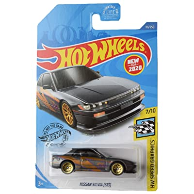 Hot Wheels Speed Graphics 7/10 Nissan Silvia [S13] 111/250, Gray: Toys & Games