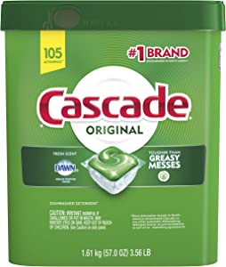 Cascade ActionPacs Dishwasher Detergent, Fresh Scent, 105 Count(Packaging may vary)