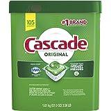 Cascade Original Dishwasher Pods, Actionpacs Dishwasher Detergent Tablets, Fresh Scent, 105 Count