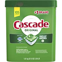 Cascade Original Dishwasher Pods, Actionpacs Dishwasher Detergent Tablets, Fresh Scent, 105 Count