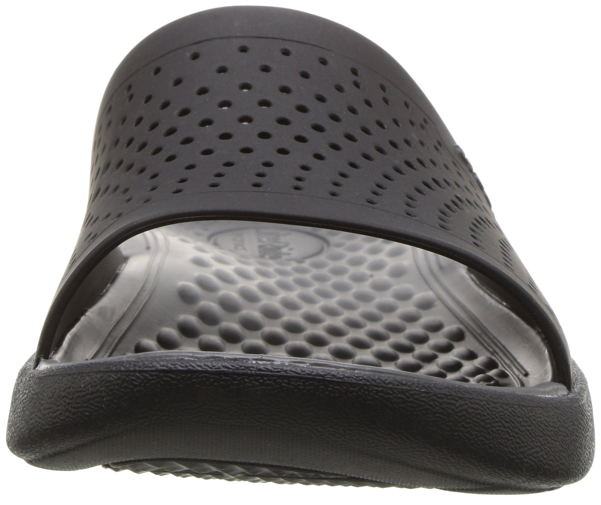 Crocs Unisex-Adults Literide Slide Sandal, Black/Slate Grey, 8 US Men/10 US Women by Crocs (Image #4)