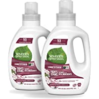 2 Pack (106 Loads) Seventh Generation Concentrated Geranium Blossom & Vanilla 40 oz Laundry Detergent