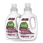Seventh Generation Concentrated Laundry Detergent, Geranium Blossom & Vanilla, 40 oz, 2 Pack (106 Loads)