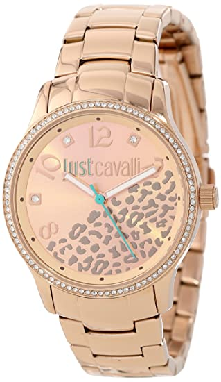 Just Cavalli R7253127510 - Reloj de pulsera para mujer, color marrón oro: Just Cavalli: Amazon.es: Relojes