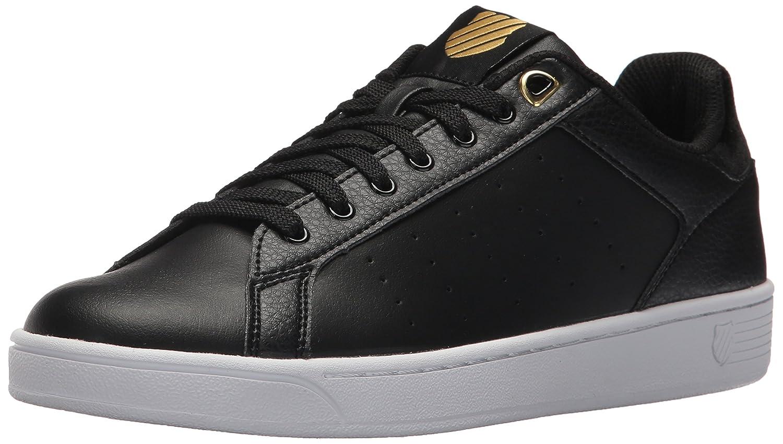 K-Swiss Women's Clean Court CMF Sneaker B072FK63LF 10 B(M) US|Black/Gold
