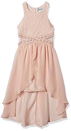 5b8e9a1283aec Amazon.com: Tween Diva Girls' Big High Low Special Occasion Dress ...