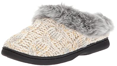 f8d398a52e5 Dearfoams Women s Cable Knit Clog with Space-Dye