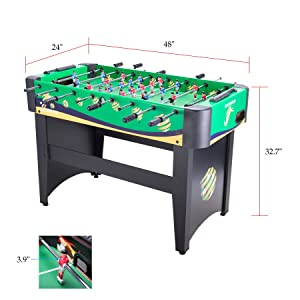 Pinty Foosball Table 48''/50''/55'' Competition Sized Soccer Game Table/Hockey Table for Family Use Game Room (48