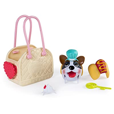 Chubby Puppies & Friends, Fashion Set with Carrier, Boxer: Toys & Games