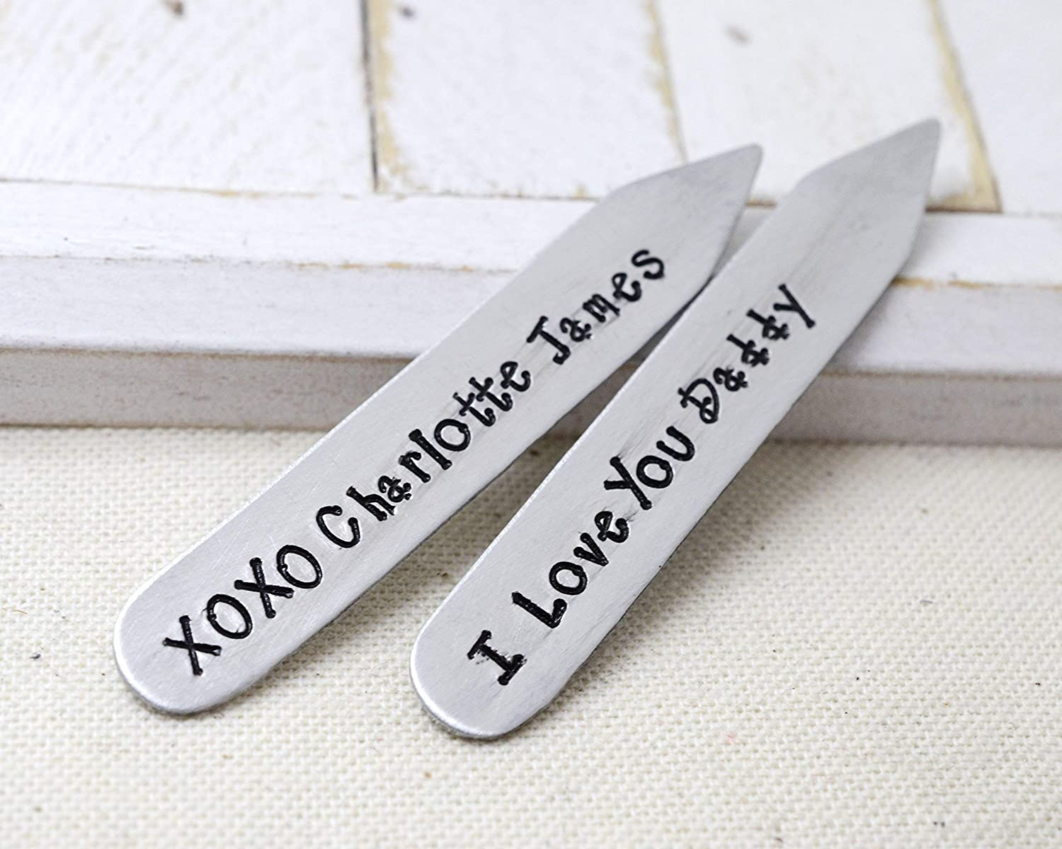 Valentines Gift for Dad Handmade Collar Stays Love it Personalized