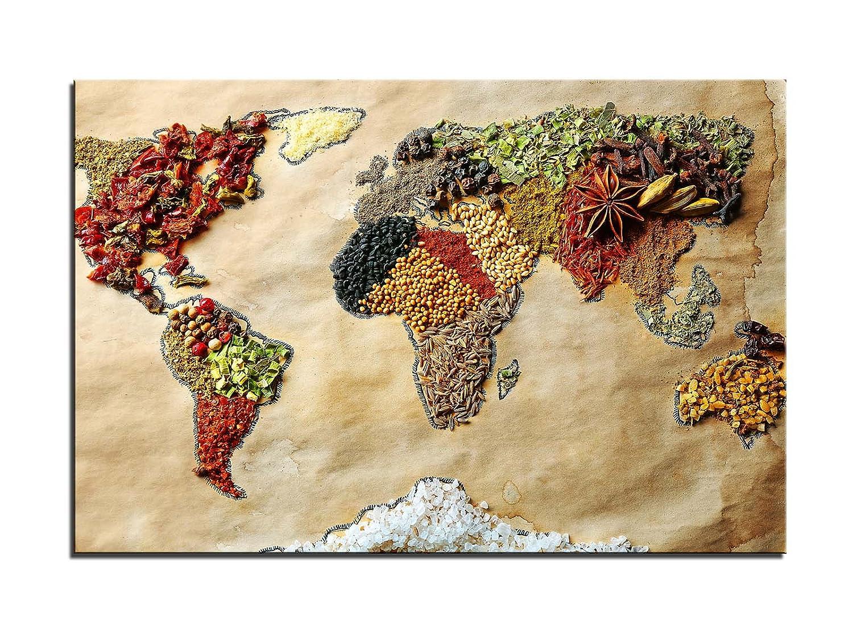 Weltkarte der Gewürze