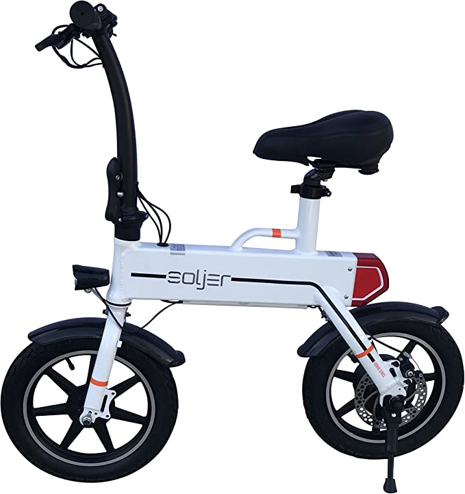 Soljer Bicicleta eléctrica pequeña para Adultos, Ligera, compacta ...
